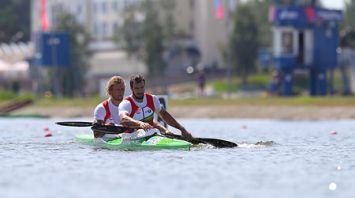 Петрушенко и Белько заняли 8-е место на Европейских играх в гребле на байдарке