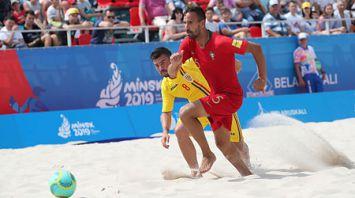 Румыны потерпели второе поражение на турнире по пляжному футболу II Европейских игр