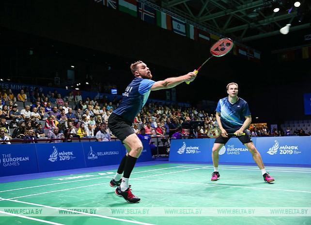 Четвертьфинальные соревнования по бадминтону проходят на II Европейских играх