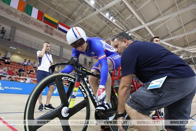 Евгений Королек стал бронзовым призером в скретче на велотреке II Европейских игр