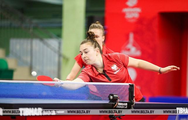 Полуфинальные матчи в командном первенстве по настольному теннису среди женщин проходят на II Европейских играх