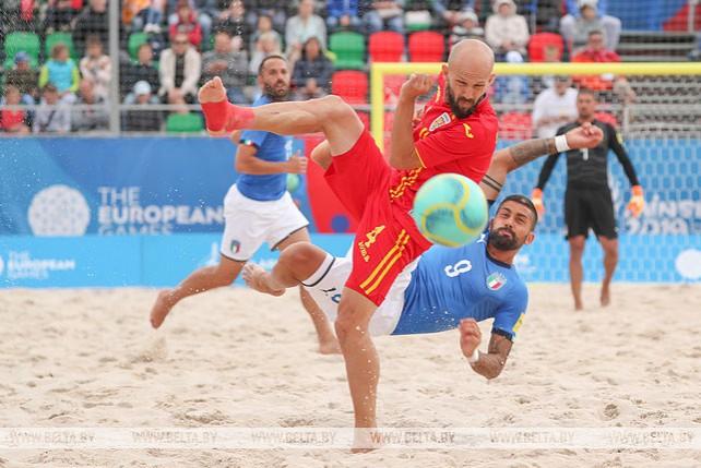 Полуфиналы по пляжному футболу проходят на II Европейских играх