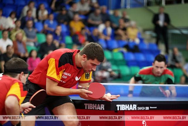 Полуфинальная стадия мужских командных соревнований по настольному теннису проходит на II Европейских играх