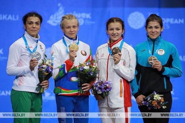 Белоруска Ирина Курочкина выиграла турнир по борьбе II Европейских игр