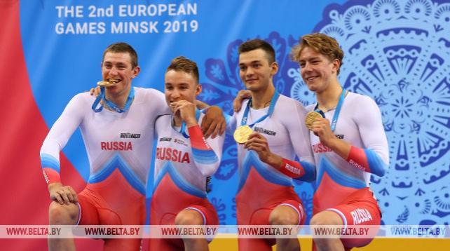Велосипедисты России выиграли мужскую гонку преследования на II Европейских играх