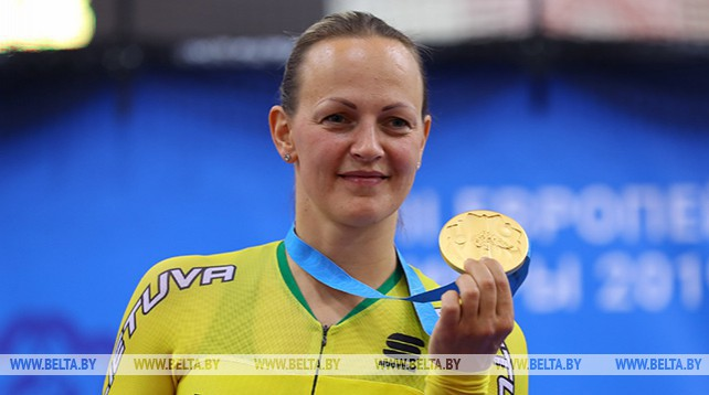 Литовка Симона Крупецкайте выиграла в кейрине на II Европейских играх