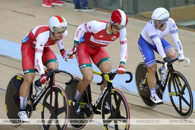 Белорусские велогонщики заняли седьмое место в мэдисоне на II Европейских играх