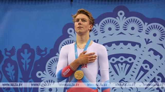 Россиянин Иван Смирнов победил на велотреке в гонке преследования на II Европейских играх