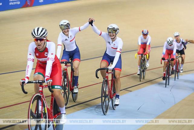 Велосипедистки Великобритании выиграли мэдисон на 30 км на II Европейских играх