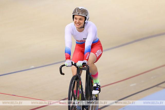 Велосипедистка Анастасия Войнова победила в спринте на II Европейских играх