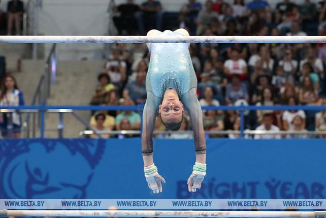 Гимнастка Анастасия Алистратова стала третьей в упражнении на брусьях II Европейских игр