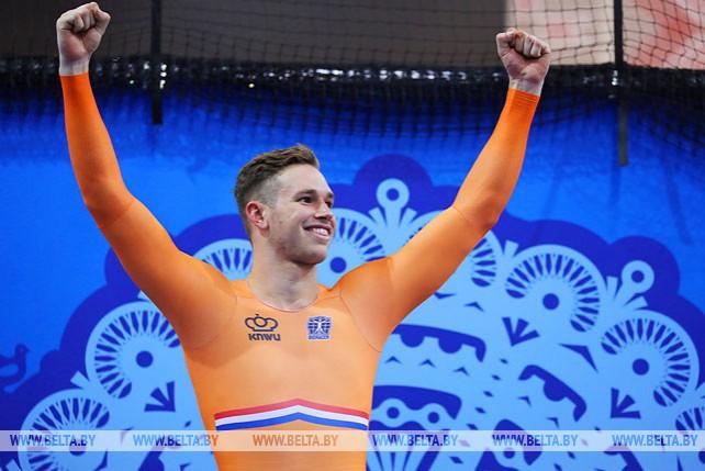 Голландец Харри Лаврейсен выиграл гонку в мужском кейрине на II Европейских играх
