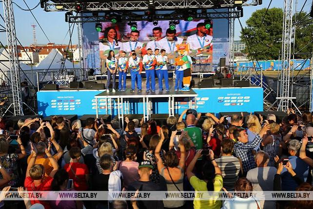 Чествование белорусских медалистов II Европейских игр прошло на главной фан-зоне в Минске