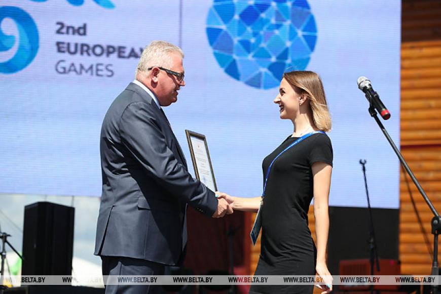 В Минске чествовали волонтеров II Европейских игр