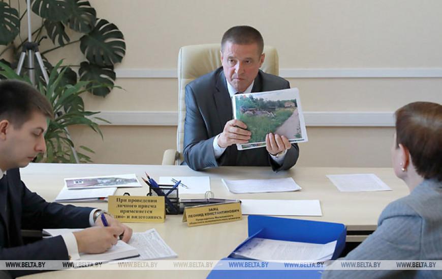 Председатель Могилевского облисполкома провел прием граждан