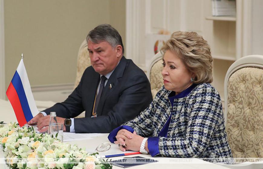 Мясникович встретился с Матвиенко