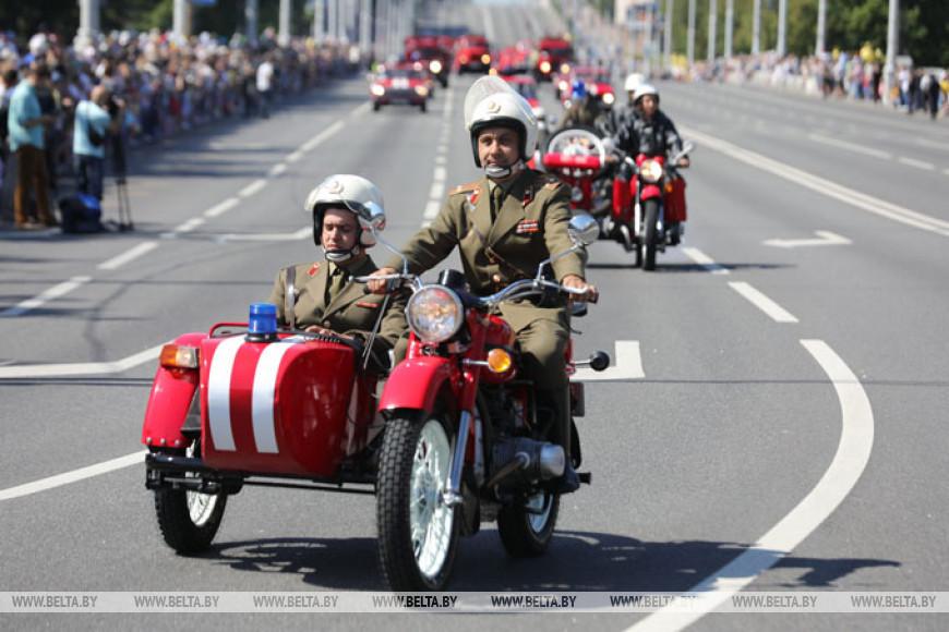 Парад спасателей прошел в Минске