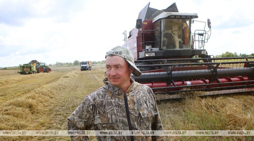 Уборка зерновых идет в Житковичском районе