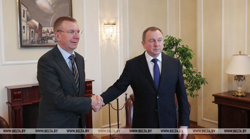 Макей провел переговоры с министром иностранных дел Латвии Эдгарсом Ринкевичсом
