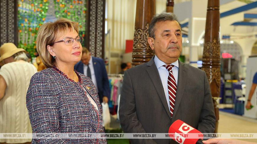 Щеткина и Сафаев посетили выставку-ярмарку узбекских товаров