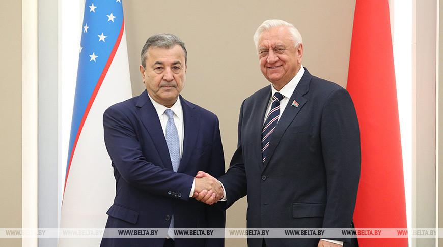 Мясникович встретился с первым заместителем председателя Сената Олий Мажлиса Узбекистана