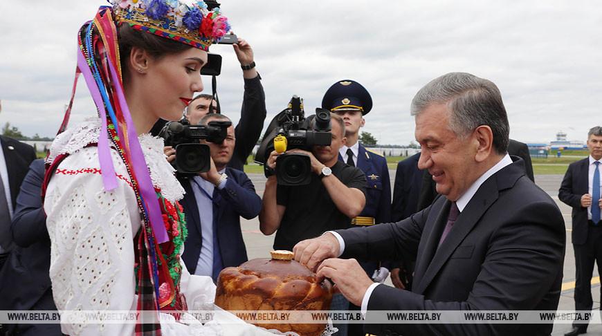 Мирзиёев прилетел с официальным визитом в Минск