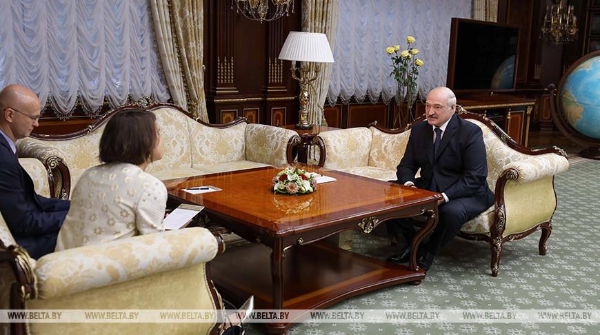 Александр Лукашенко встретился с Фионной Гибб