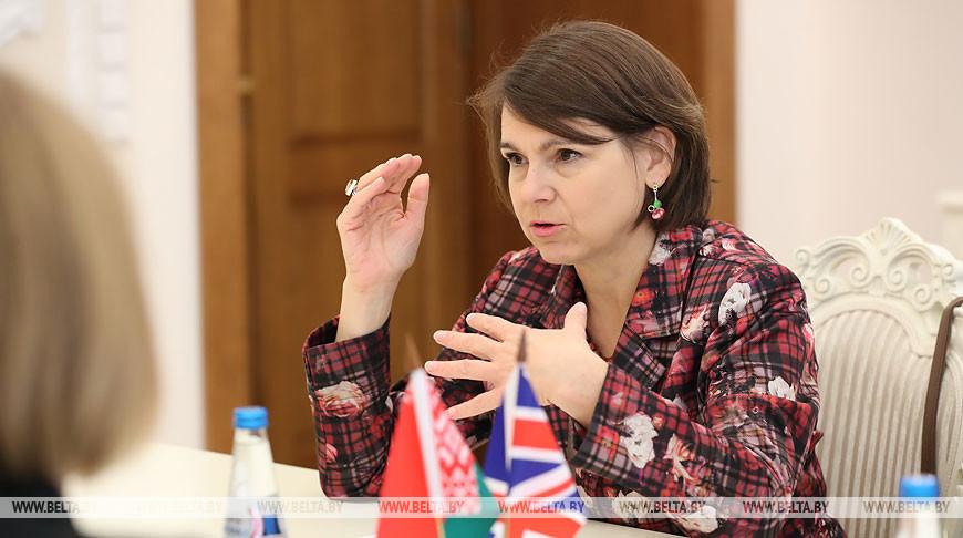 Румас встретился с послом Великобритании в Беларуси