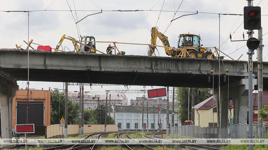 Реконструкция моста на улице Железнодорожной в Минске