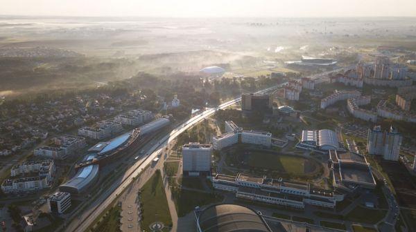 Рассвет над Минском