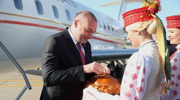 Премьер-министр Грузии прибыл с визитом в Беларусь