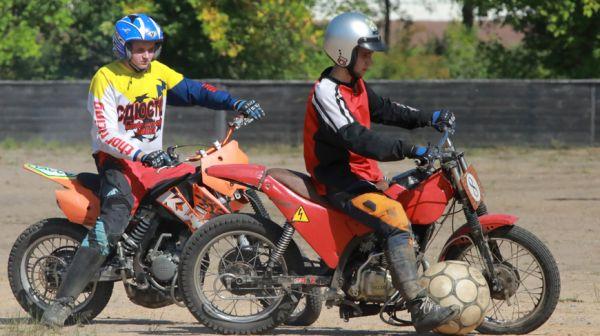Первенство Беларуси по мотоболу проходит в Бобруйске