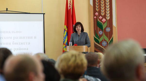 Социально-экономическое развитие Вилейского района рассмотрено на заседании райисполкома с участием Кочановой