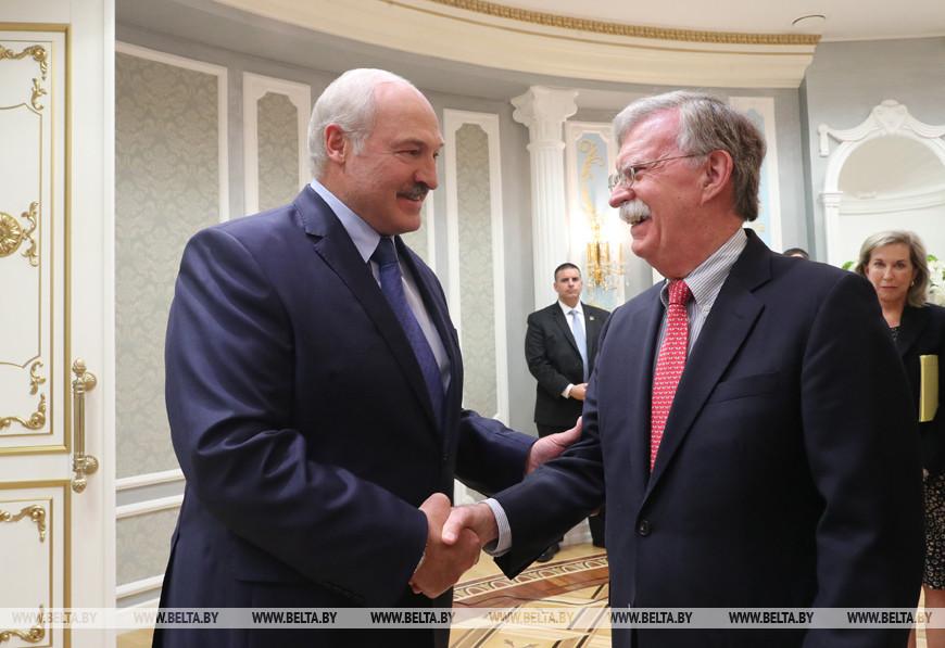 Лукашенко встретился с советником Президента США по национальной безопасности Джоном Болтоном