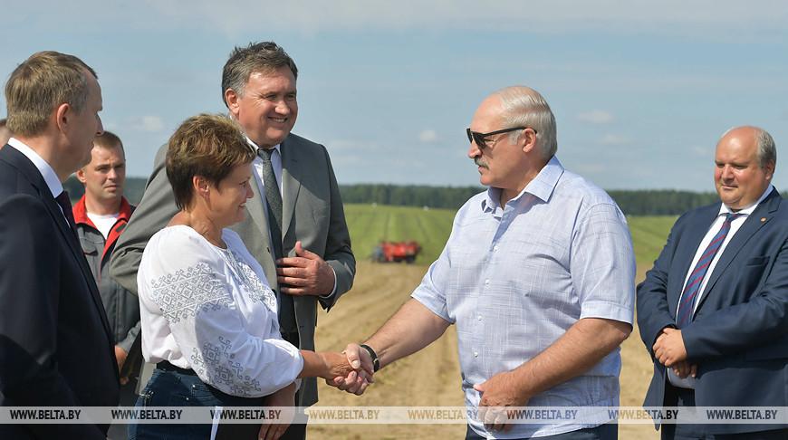 """Лукашенко посетил ОАО """"Озерицкий-Агро"""" в Смолевичском районе"""