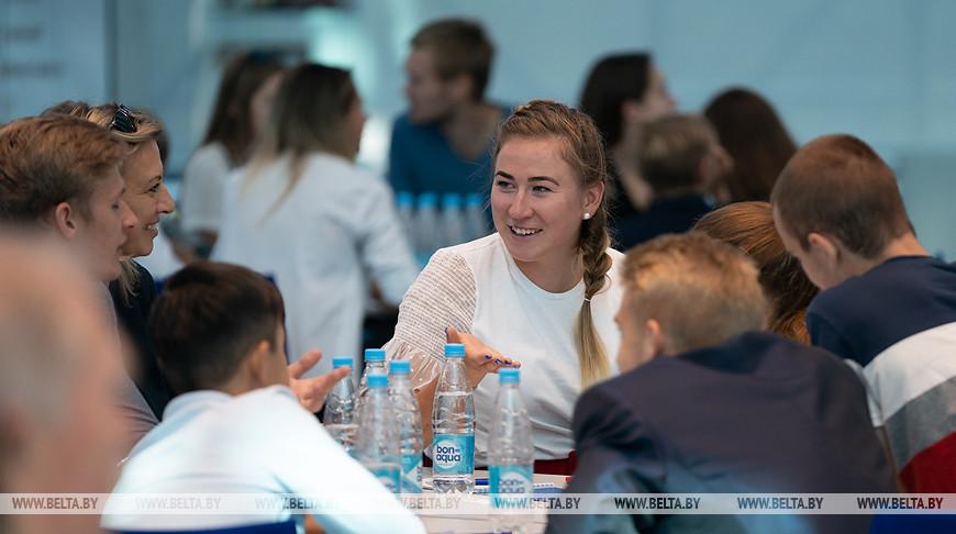 Победителем Олимпийского урока стала команда белорусской биатлонистки Динары Алимбековой