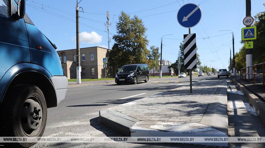 """""""Зоны успокоения"""" дорожного движения создают возле гимназий в Витебске"""