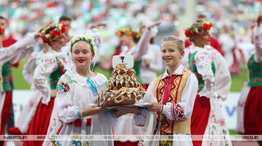 Церемония открытия легкоатлетического матча Европа - США прошла в Минске