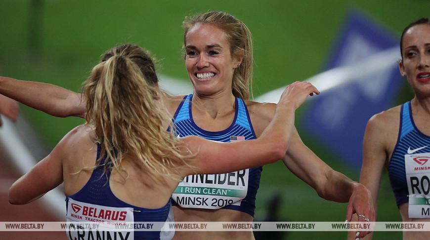 Легкоатлетический матч Европа - США проходит в Минске