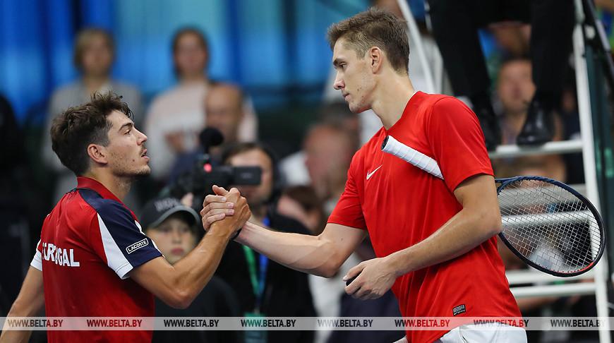 Белорусские теннисисты сравняли счет в матче Кубка Дэвиса с португальцами
