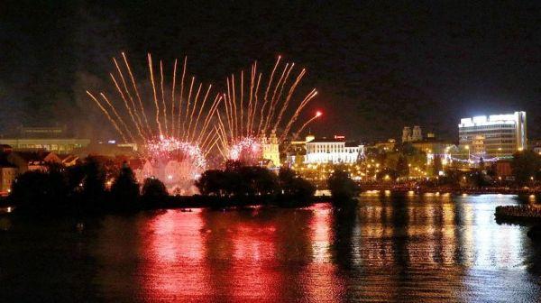 Фейерверк-шоу прошло в Минске