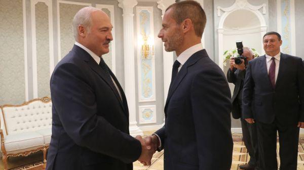 Лукашенко встретился с президентом Союза европейских футбольных ассоциаций (УЕФА)