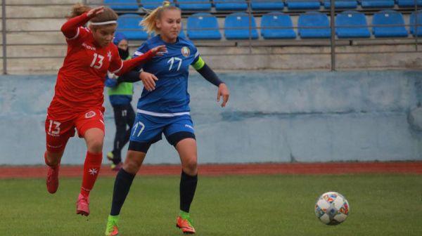 Белорусские футболистки сыграли вничью с мальтийскими