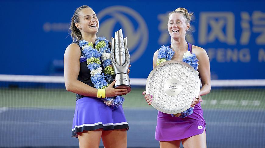 Арина Соболенко стала победительницей теннисного турнира в Ухане