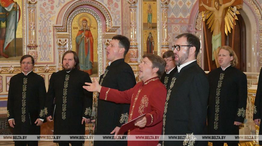 Концерт хора Валаамского монастыря стал первым выступлением под куполом храма в честь Всех Святых
