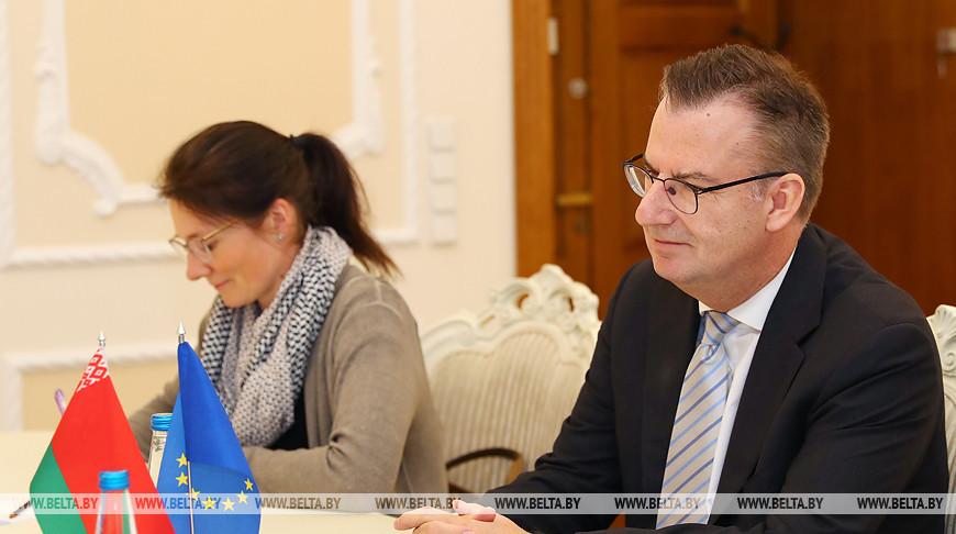 Румас встретился с главой представительства Евросоюза в Беларуси