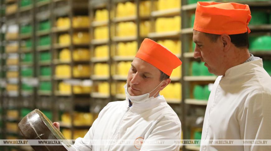 20 т сыров в сутки производит Рогачевский молочно-консервный комбинат
