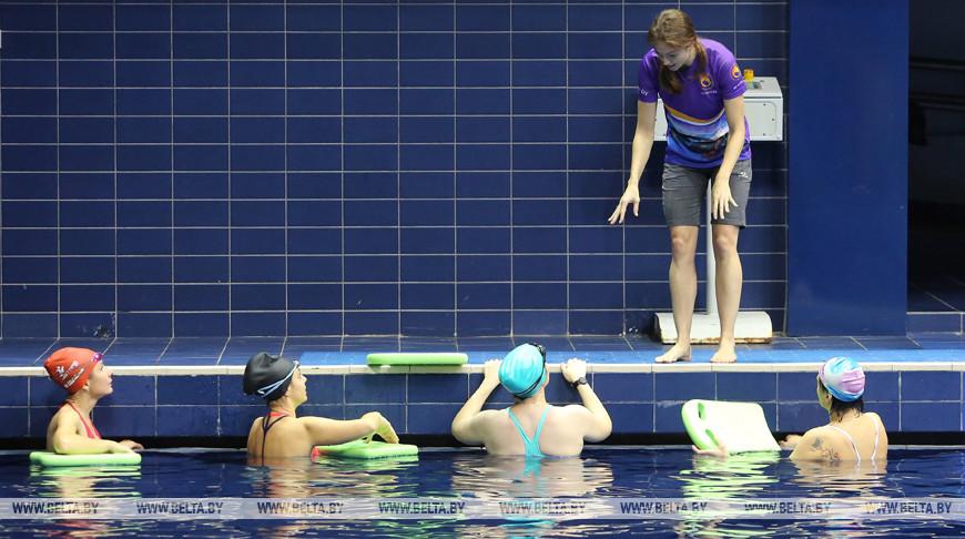 Александра Герасименя провела мастер-класс по плаванию
