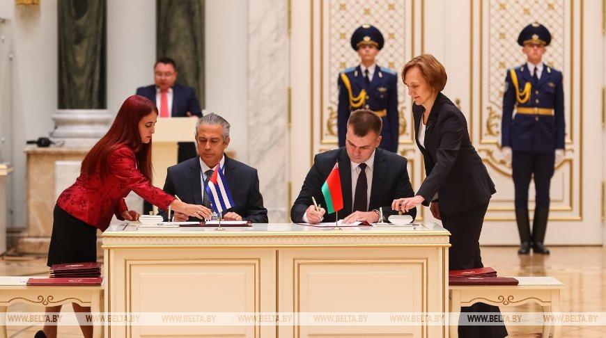 Двусторонние документы между Беларусью и Кубой подписаны в Минске