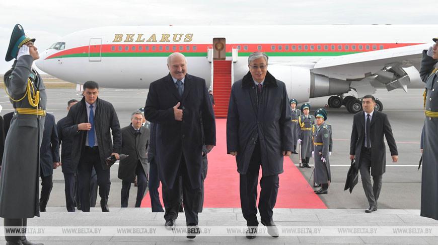 Лукашенко прибыл с официальным визитом в Нур-Султан
